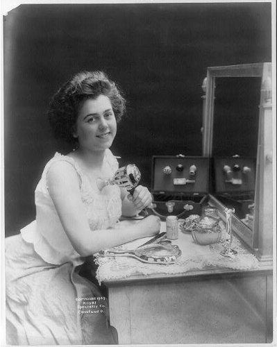Photo: Chest Developer,woman holding electric vibrating machine to her chest,c1909 (Photo Developer Machine compare prices)