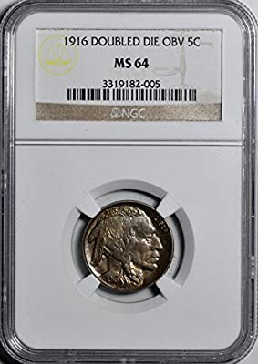 1916 Buffalo Nickel Nickel MS64 NGC