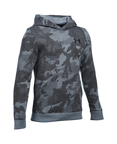 Under Armour Boys' Titan Fleece Printed Hoodie, Steel (035), Youth Medium