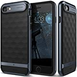 iPhone 7 Case, Caseology [Parallax Series] Modern Slim Geometric Design [Black / Deep Blue] [Textured Grip] for Apple iPhone 7 (2016)