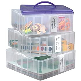 Snapware Snap n Stack Craft Organizer Large Square - 3 Layers