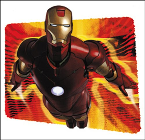 Licenses Products Iron Man Flare Sticker