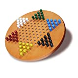 51SUoSEA3xL. SL160  Chinese Checkers Wooden Pegged Game by Wood Expressions