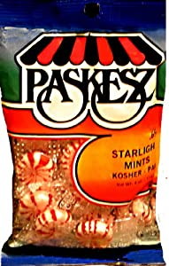 Paskesz Candy, Starlight Mint, 4-Ounce Bags (Pack of 24)