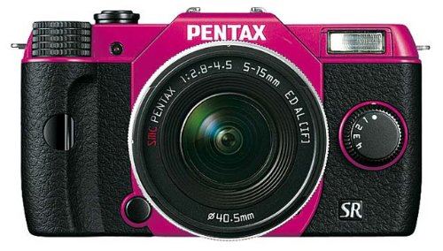 "Pentax Q10 Compact à objectif interchangeable LCD 3"" 100 Mpix Zoom 5-15 mm f/2,8-4,5 Rose"