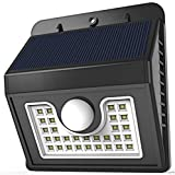 Vivii Solar lights, 30 led Bright LED Security Lighting Outdoor Motion Sensor Lighting for Garden, Patio, Fencing, and Pathway