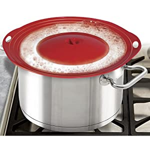 Boil Over Safeguard - Silicone Lid Stops Pots and Pans from Messy Spillovers