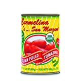 Carmelina 'e San Marzano Organic Italian Whole Peeled Tomatoes in Puree, 14.28-Ounce Cans (Pack of 24) ~ Mangia