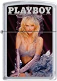 Zippo Playboy August 1986 Cover Satin Chrome Windproof Lighter NEW RARE