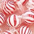 Jumbo Red & White Peppermint Hard Candy Balls 1LB Bag