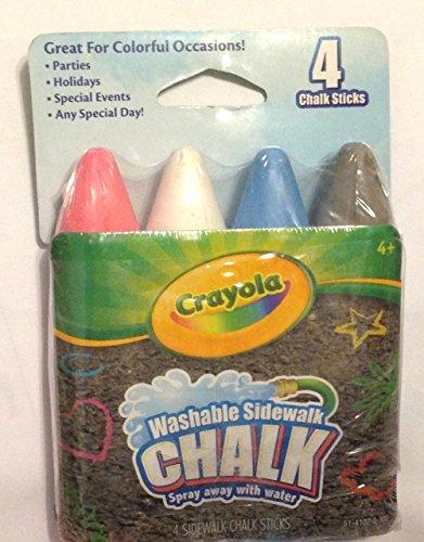 Crayola Washable Sidewalk Chalk 4 Pack - 1