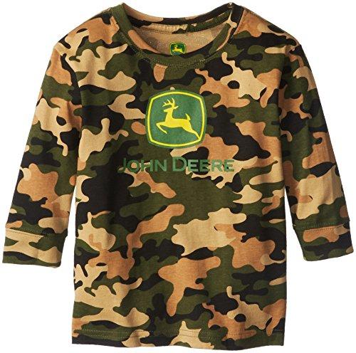 John Deere Little Boys' Trademark Long Sleeve Tee, Camouflage, 3T front-500041
