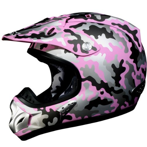 AFX Camo Women's FX-35 MX Motorcycle Helmet - Color: Flat Pink, Size: Small