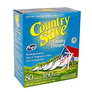 Country Save HE Laundry Detergent, Powder, 160-Load, 10-lb Boxes