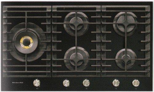 Kitchenaid plaque de cuisson gaz khgd5 86510 finition for Plaque cuisson 90 cm