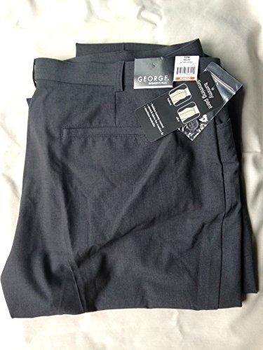 Women'S Plus George Think Slim Pant Color Grey Heather Size 22W Petite front-306283