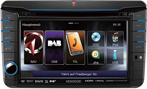 Kenwood-DNX-525DAB-Navigationssystem-7-Zoll-Displaystarrer-Monitor-169Kontinent