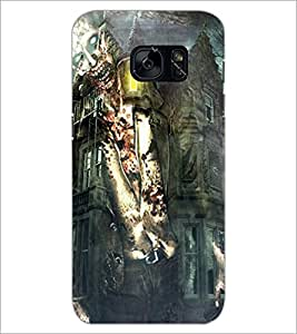 PrintDhaba Abstract Image D-4885 Back Case Cover for SAMSUNG GALAXY S7 (Multi-Coloured)