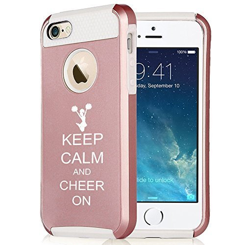 apple-iphone-6-6s-rose-gold-shockproof-impact-hard-case-cover-keep-calm-and-cheer-on-cheerleader-ros