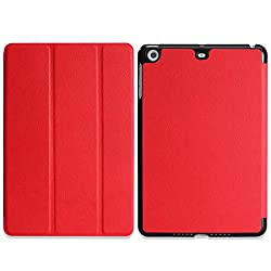 MoKo Apple iPad Mini with Retina Display Case - Ultra Slim Lightweight Smart shell Cover Case for Mini 2 (2013) and Mini (2012 Edition) RED