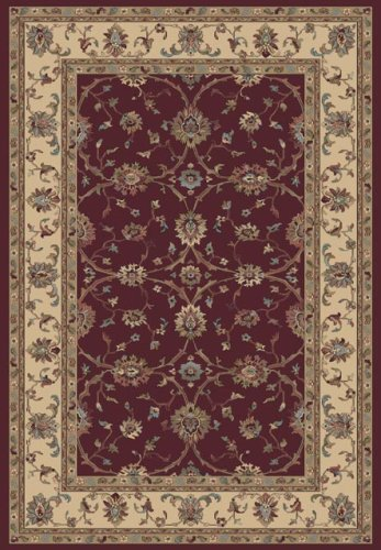 Leroy 43007-1464 Red Oval Rug Size: Oval 5'3