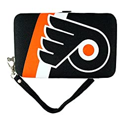 NHL Philadelphia Flyers Shell Wristlet, 3.5 x 0.5 x 6-Inch, Black