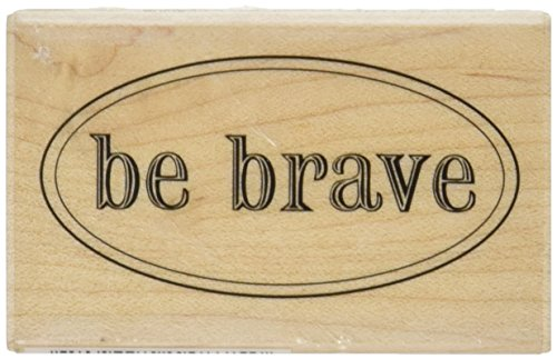 Hampton Art Expressions Rubber Stamps, Be Brave - 1