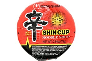 Nong Shim Shin Cup Noodle Soup (Gourmet Spicy) - 2.64oz - 75g (Pack of 6 Cups) from Nong Shim