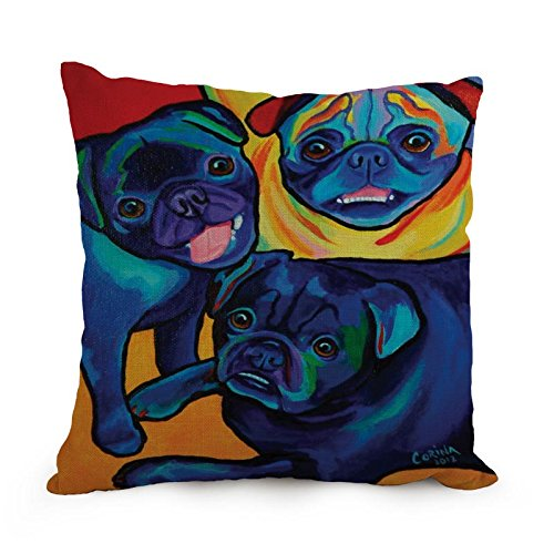Elegancebeauty 18 X 18 Inches / 45 By 45 Cm Dog Art Pillow Covers,two Sides Is Fit For Home,kids Girls,christmas,birthday,living Room (Tardis Fridge Cover compare prices)