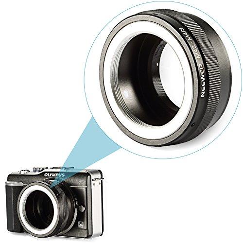 Neewer アダプターリング M42マウントレンズ マイクロフォーサーズシステムカメラマウント Olympus PEN E-P1 P2 P3 P5 E-PL1 PL1s PL2 PL3 PL5 PL6 E-PM1 PM2 OM-D E-M5 E-M1 Panasonic Lumix DMC-GH1 GH2 GH3 GX7 G1 G2 G10 G3 G5 G6 GF1 GF2 GF3 GF5 GF6 GX1 GM対応