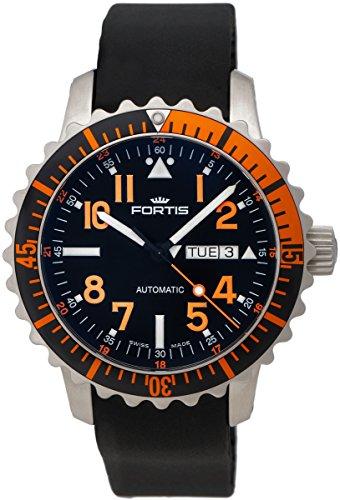 fortis-b-42-marinemaster-day-date-gmt-automatic-steel-orange-mens-strap-watch-6701949-k