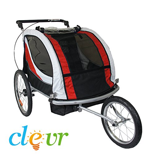 Cheapest Price! Clevr Premium Child Bicycle Trailer Baby Bike Kid Jogger Red Running Carrier