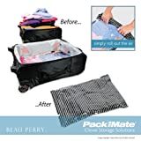 Packmate 3pc Suitcase set (2M and 1L Roll bag) - BLACK Stripe