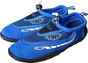 TWF Graphic Aqua Shoes BLUE UK 1