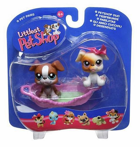 Buy Low Price Hasbro Littlest Pet Shop Pet Pairs Figures 2 Boxers with Basket (B000EQIE62)