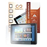CaseGuru Presents the Platinum Edition Tablet 3 Layer Structured Electro-Static Absorption Screen Protector/ Guard featuring Scratch Resistance Layer, Bubble Free & includes Microfiber Cleaning Cloth & Application Card for Samsung Galaxy Tab 2 10.1Â P510