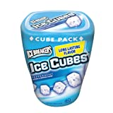 Ice Breakers Ice Cubes Sugar Free Gum, Peppermint, 3.24-Ounce Containers (Pack of 4)
