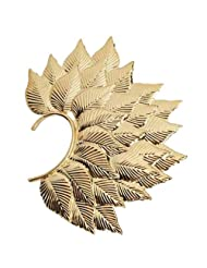 Ashiana Deepika Padukone Inspired Fohawk Leaf Gold Ear Cuff Earring