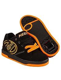 Heelys Men's Propel 2.0 Black Bright Orange Roller Skate Shoes Sneakers