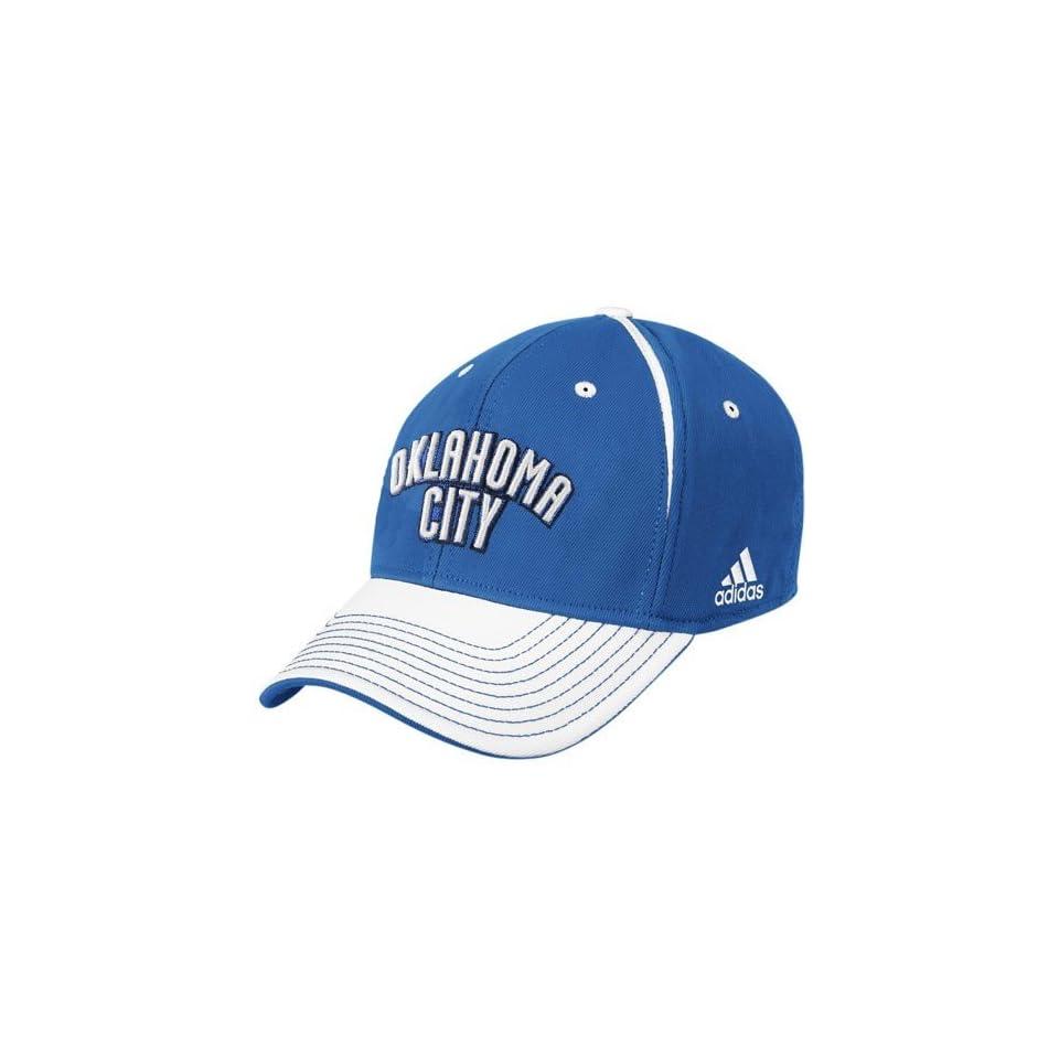 huge discount 14cb5 8812f adidas Oklahoma City Thunder Blue Block Letter Flex Fit Hat