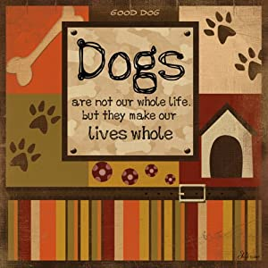 Blue Fox Dogs Whole Life Wood Plaque by Art The Celebrates