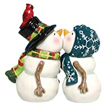 Westland Giftware Mwah Magnetic Snow People Salt and Pepper Shaker Set 4-Inch