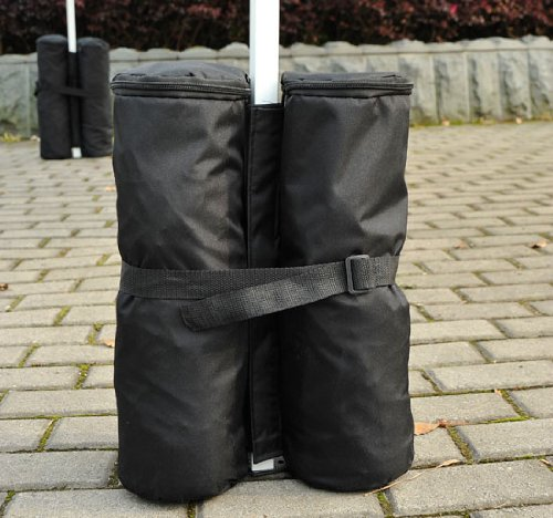 Outsunny Canopy Party Gazebo / Pop Up Tent Pole Weight Sand Anchor Bag – 4 Pack