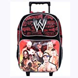 Black-and-Red-WWE-Rolling-Backpack---Boys-Luggage-with-Wheels