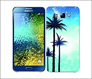 Galaxy Printed 2892 Summer Silhoustee Blue Hard Cover for Samsung CORE 2