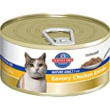 Hill's Science Diet Mature Adult Savory Chicken Entree Minced Cat Food, 5.5-Ounce Can, 24-Pack