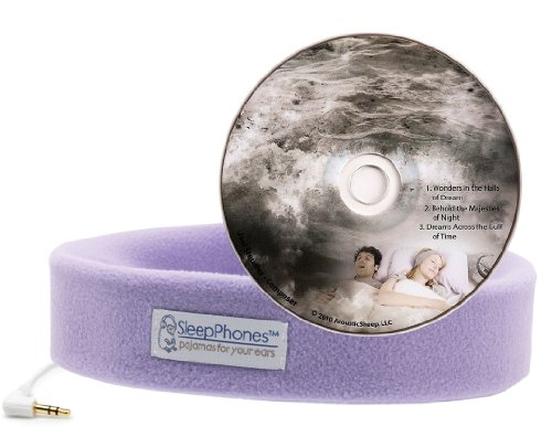 Acousticsheep Sleepphones Classic Sleep Headphones With Dreams Cd (Lavender)