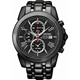 Seiko Men's Grand Sport, kinetic, Black Steel SSC219P1