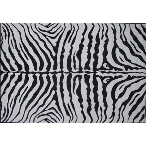 Zebra Print Area Rug 5' 3