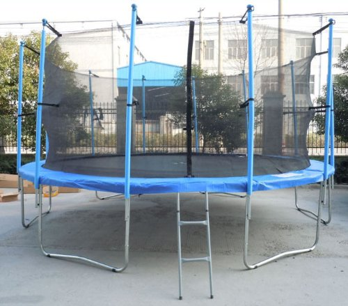 16FT Trampoline Set Includes Safety Net Enclosure worth £49.99 All Weather Cover worth £19.99 And Ladder £19.99 TUV GS EN-71 CE Certified RRP £599.99 Total Saving £300 Off the Package